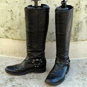 FRYE Phillip Harness boots, 9, black, Mexico